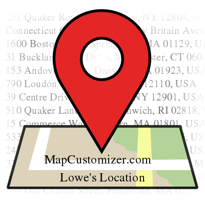 Lowe's Location | MapCustomizer.com: Plot multiple locations on Google Maps