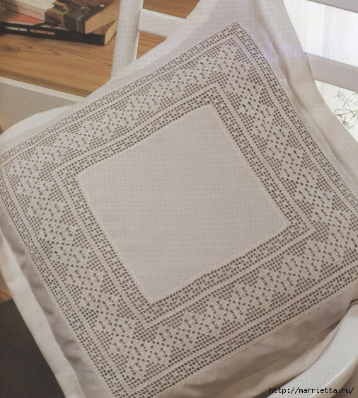 Crochet.  Decor pillowcases for pillows (4) (506x562, 212Kb)