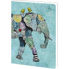 Tree-Free Greetings Elephant and Birds Soft Cover Journal, 5.5 x 7.5 Inches, 160 Lined Pages, Gift for Animal Lovers, Blue (JR89871)