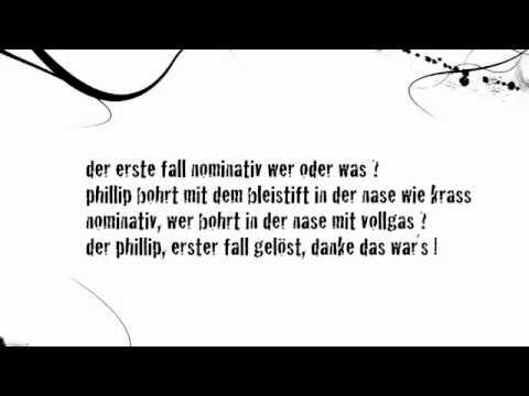 Deutsch global der 4 f lle rap zum mitsingen for Wegen dativ oder genitiv