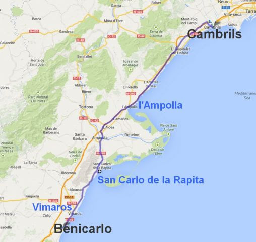 Cambrils Espagne Carte   Carte