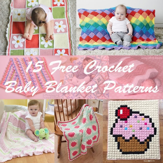 15 Free Crochet Baby Blanket Patterns - Crafty Guild