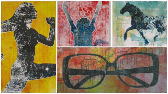 collage of gelatin prints by linda germain