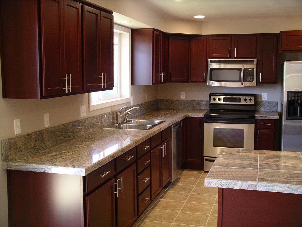 Cherry Kitchen Cabinets with Granite Countertops - Home ...
