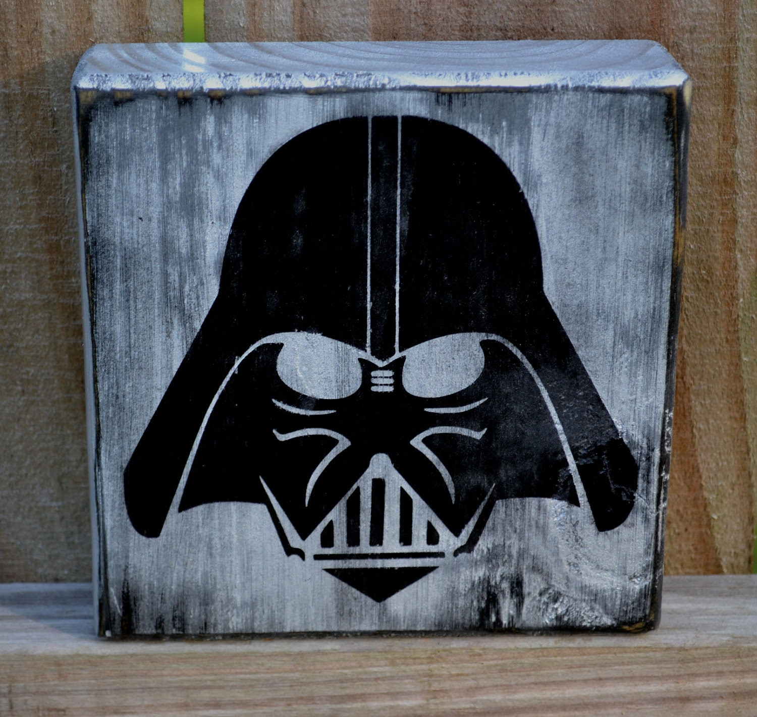 Darth Vader Custom Wood Sign Man Cave Star Wars Home by CSSDesign