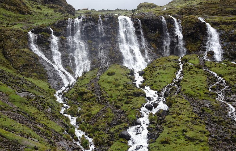 Atemberaubendes Naturwunder Der Wasserfall Siete Cataratas Und