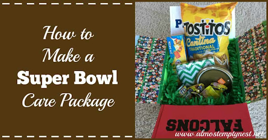How to Make a Super Bowl Care Package - Almost Empty Nest