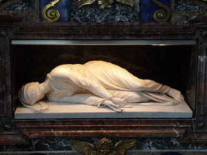English: Death of Saint Cecilia by Maderno. Sa...