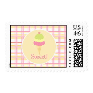 Sweet Ice Cream Birthday Postage stamp