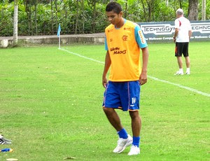 David Braz no treino do Flamengo (Foto: Janir Junior / GLOBOESPORTE.COM)