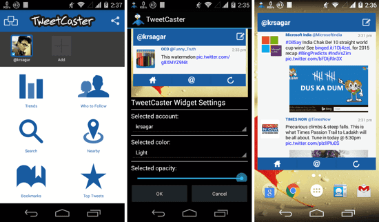 aplikasi widget homescreen twitter android