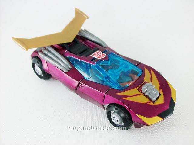 Transformers Rodimus Animated Deluxe Takara - modo vehículo