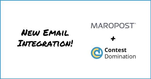 New Maropost Email Integration | ContestDomination