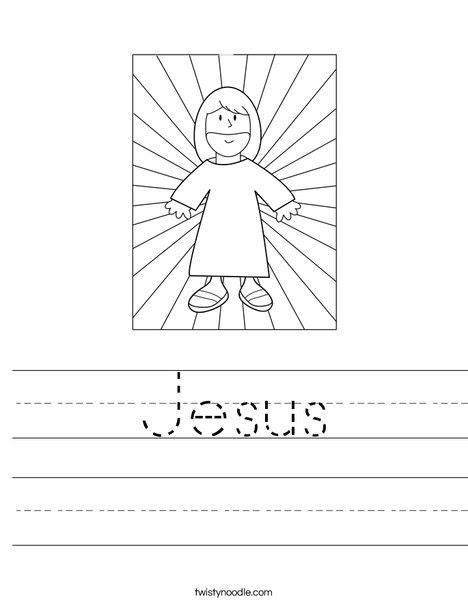 Jesús con la hoja de trabajo Luz