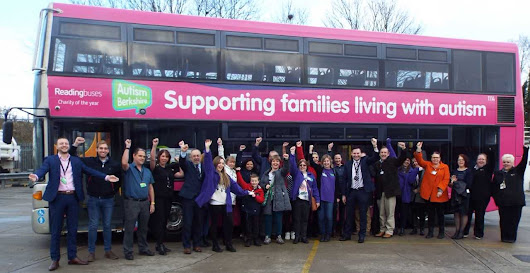 Reading Buses unveils Autism Berkshire as new charity partner for 2018