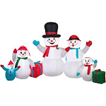 Gemmy Airblown Inflatable Snowman Family