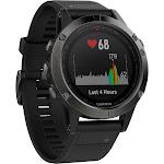 Garmin Fenix 5 Multisport GPS Fitness Watch, Black/Grey