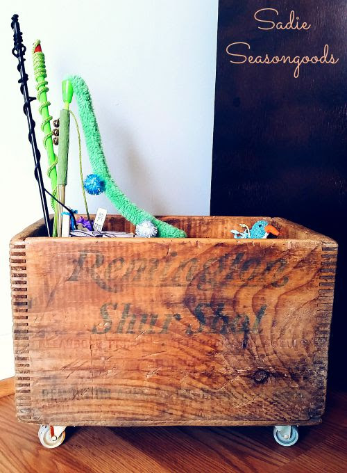 antique crate storage