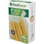 "Foodsaver 2-Pack 8"" x 20' Vacuum Seal Rolls, White"