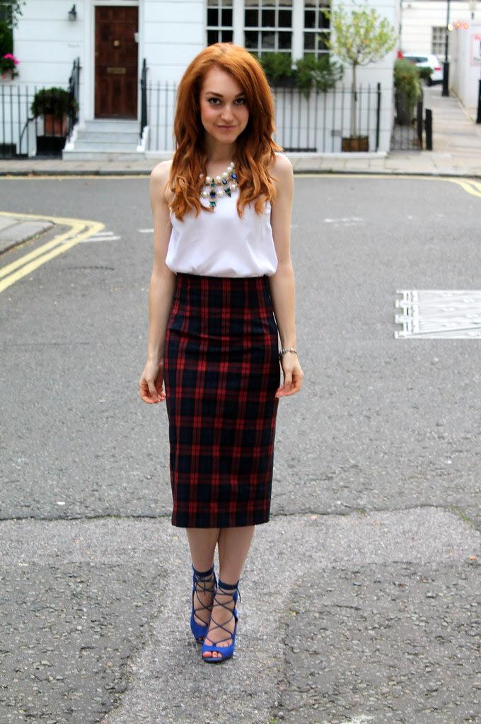 Zara Tartan Skirt (4)