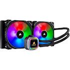 Corsair Hydro H115i RGB Platinum Liquid Cooling System with RGB Lighting - Black/Silver