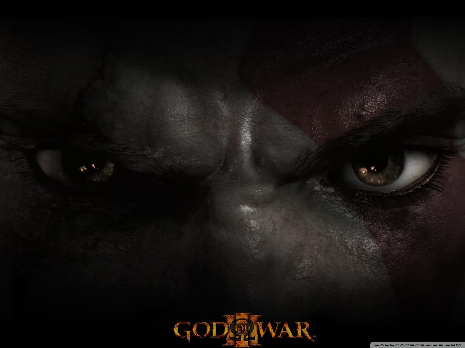 God Of War Iii Kratos Eyes Uhd Desktop Wallpaper For 4k