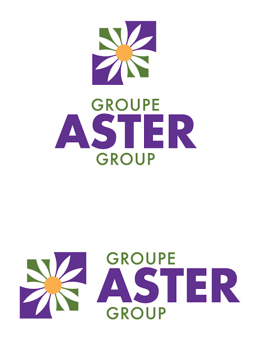 Logo – Groupe Aster Group | Welcome / Bienvenue  – Branch Graphic Design, Moncton, NB, Canada