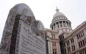 The Ten Commandments display