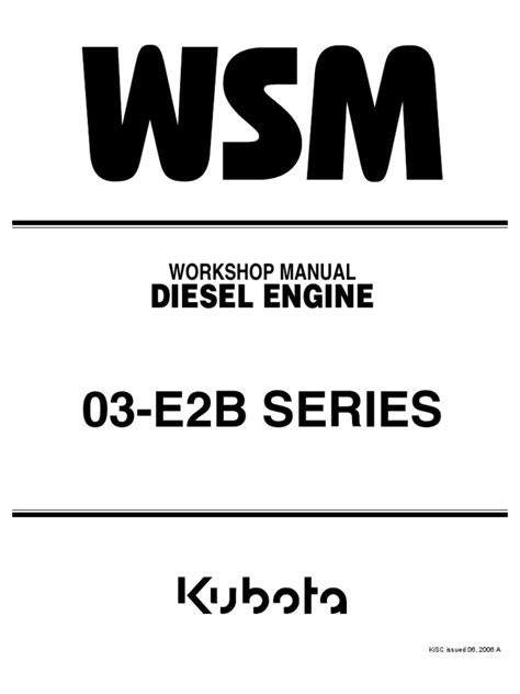 Kubota V2203 Workshop Manual | Diesel Engine | Motor Oil