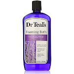 Dr Teals Foaming Bath, Pure Epsom Salt, Soothe & Sleep with Lavender - 34 fl oz