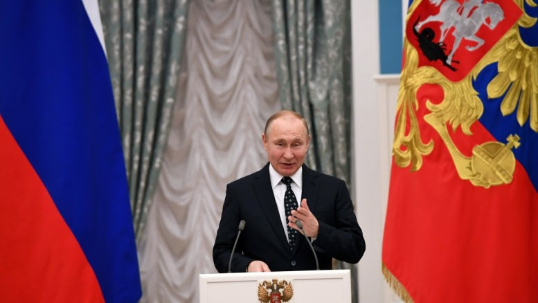 Russian President Vladimir Putin at the Kremlin in Moscow, Russia. EPA, YURI KADOBNOV, POOL