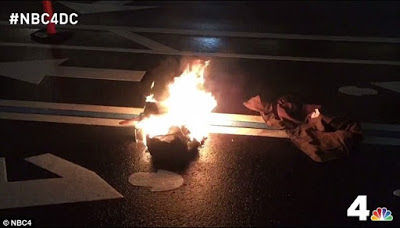 ANTI-DONALD TRUMP PROTESTER SETS HIMSELF ON FIRE