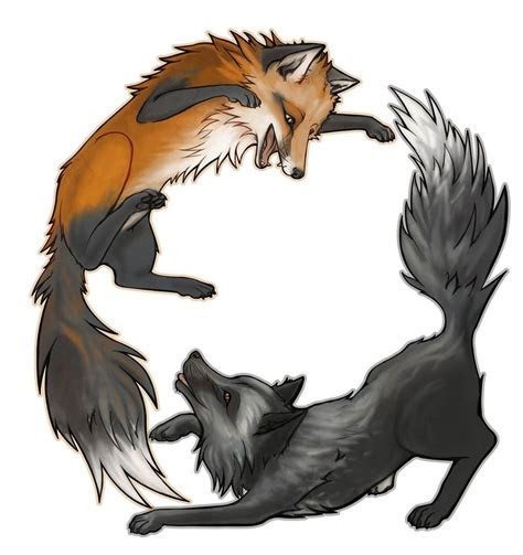 fox  wolf art tattoos pinterest dessin tatouage