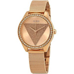 Guess Tri Glitz Rose Gold-tone Dial Crystal Ladies Watch W1142L4