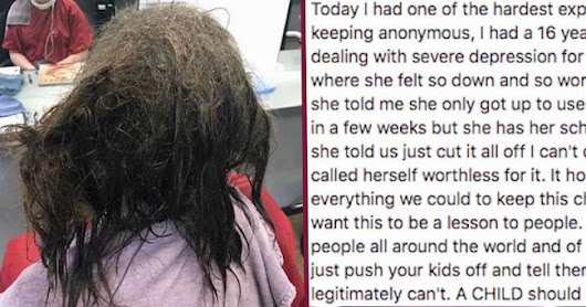 When Depressed Teen Asks the Hairstylist to Shave Her Bald, She Does an Amazing Thing Instead
