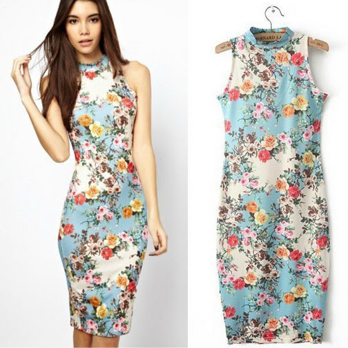 Bodycon for cheap floral women dresses