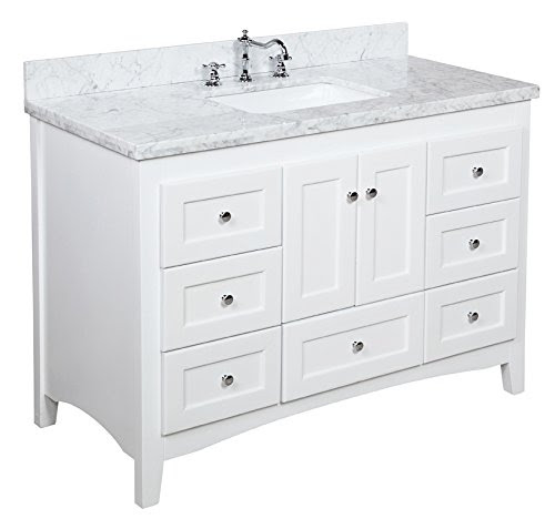 Sale Abbey 48 Inch Bathroom Vanity Carrarawhite Includes Italian