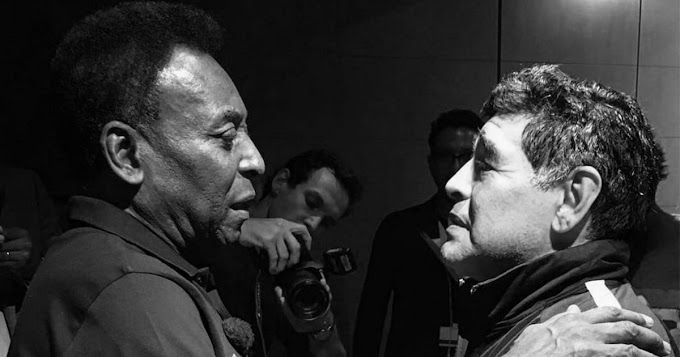 'I hope we'll kick the ball in heaven one day': Pele sends farewell message to Diego Maradona