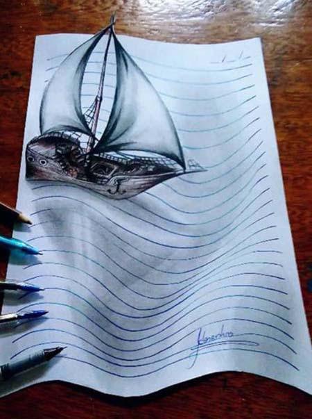 Απίστευτη 3D τέχνη σε χαρτί από έναν 17χρονο (9)