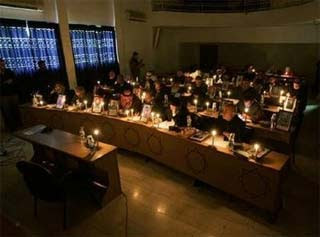 Hamas candle hoax