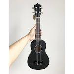 21 inch Mahogany Soprano Ukulele Hawaiian Guitar, Black / 21 inches