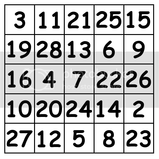 5 by 5 grid Solution 4