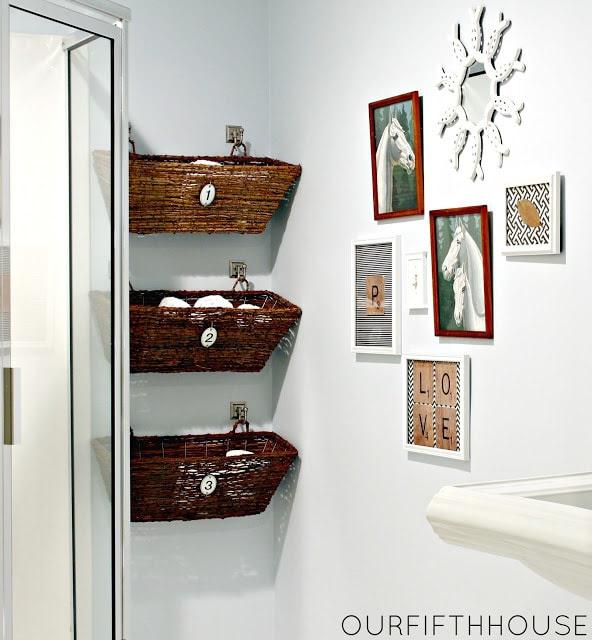 pretty & functional} Bathroom Storage Ideas - The Inspired Room