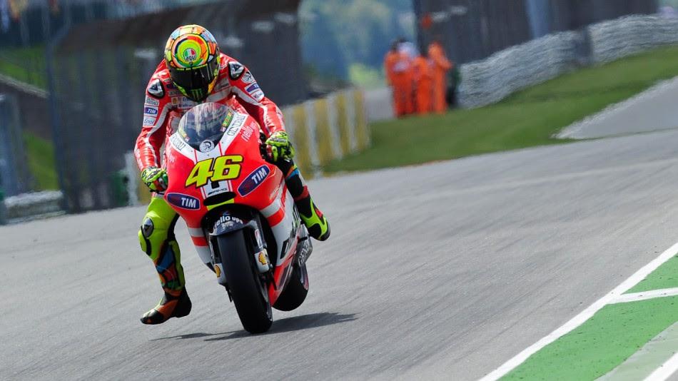 Valentino Rossi, Ducati Team, Sachsenring RAC