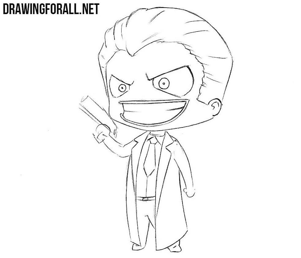 How to Draw Chibi Joker | Drawingforall.net