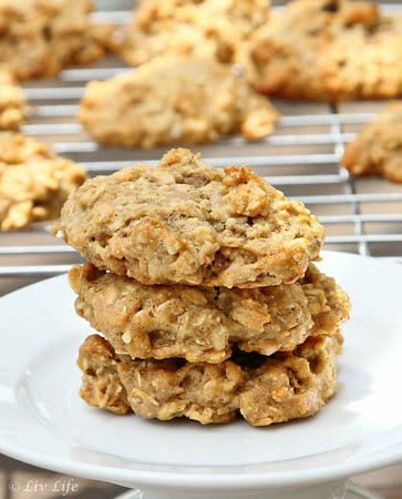 Peanut Butter Banana Cluster Kind Cookies