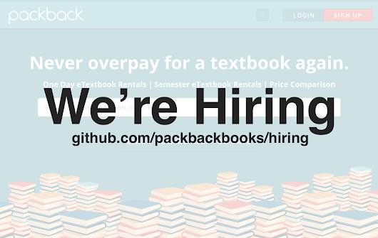 Announcement: We're Hiring Engineers at Packback  —  Karl L. Hughes | Technology Entrepreneur & Engineer in Chicago