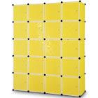 Costway DIY Cube Portable Closet Wardrobe Storage Cabinet with Doors