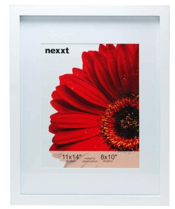 White 11x14 Frame Gallery Mat Opening Is 8x10 Athena Posters