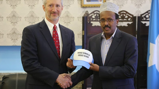 US Ambassador Gives 'Make Somalia Great Again' Hat to Somali President Because America Has Become a Parody of Itself